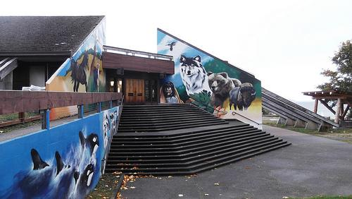 The United Indians of All Tribes Foundation Head Start program, one of two Washington programs to lose federal funding, is located at the Daybreak Star Indian Cultural Center in Seattle's Discovery Park.