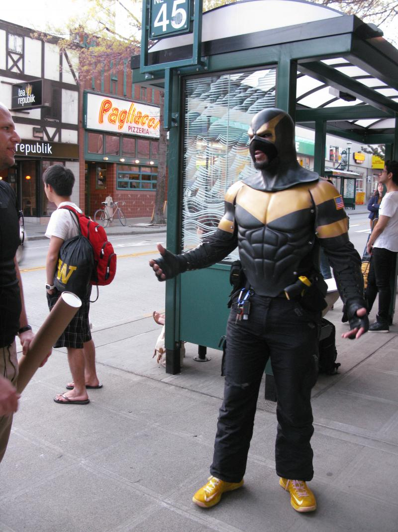 Seattle's Phoenix Jones on patrol.