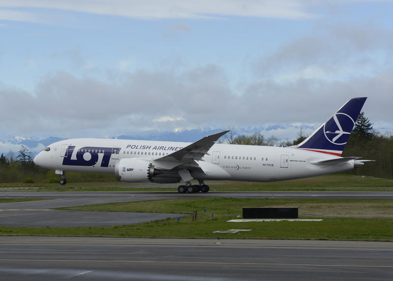 A Boeing 787 takes off from Everett's Paine Field April 5 for the certification flight that could return the 787 fleet to service.