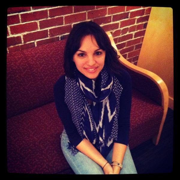 Monica Guzman in the KUOW green room.