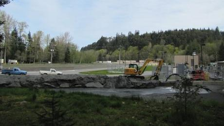 The $79 million facility was designed specifically to deal with the sediment released from above the dams during removal.