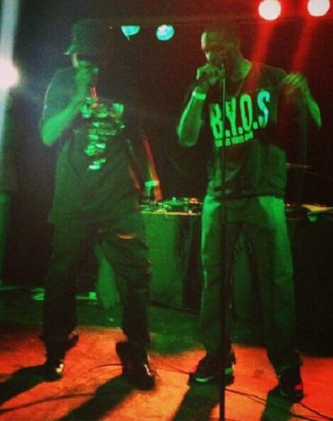 M-Eaze and Mega on stage at Chop Suey.