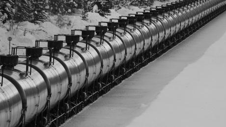 More trains hauling oil from North Dakota's Bakken oil fields, like this one passing through Montana, could be heading to the Port of Grays Harbor, Wash.