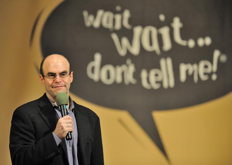 Special guest Peter Sagal takes the news quiz today. (Photo from March 2009.)