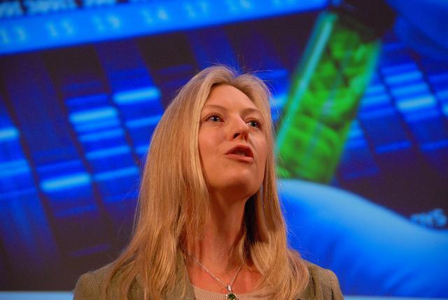 Futurist Sonia Arrison speaking at the Singularity Summit, October 2011.