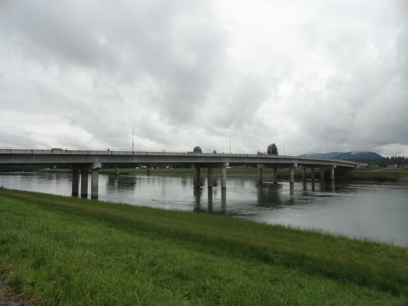 Riverside Bridge is one of the detour routes across the Skagit River.