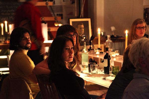 Students at a death dinner explore issues of mortality.