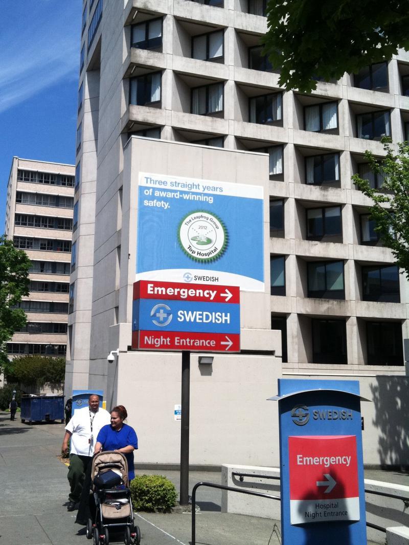 Swedish hospital entrance