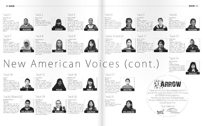 "Renton Arrow's ""New American Voices"" issue features stories from new immigrants attending Renton High School. They recorded their stories during a field trip to KUOW."