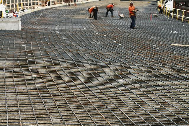 Mid-level employment, such as rebar work, is expected to see an upswing in the coming years.