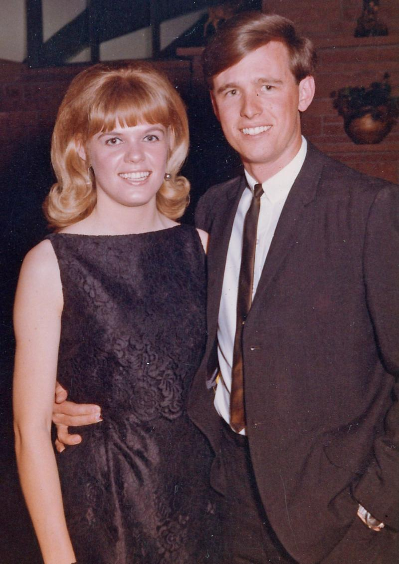 General manager Wayne Roth and his lovely date smile for the camera before heading to a formal dance, sophomore year of college.