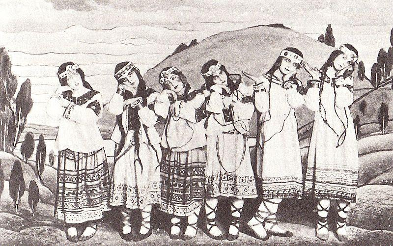 """The original production of """"Rite of Spring"""" (1913) featured a departure for music, dance and costuming."""