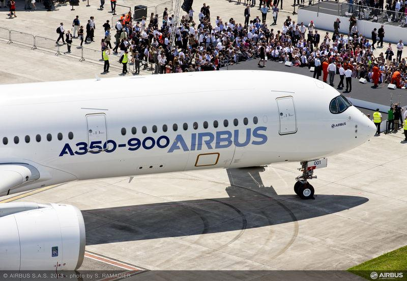 The wide-body Airbus 350 completed its maiden flight in Toulouse, France on June 14.