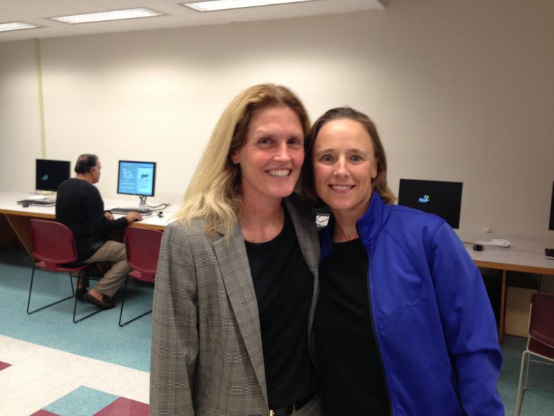 Lisa Gilmore and Larysa Slobodian at the King County Recorder's Office