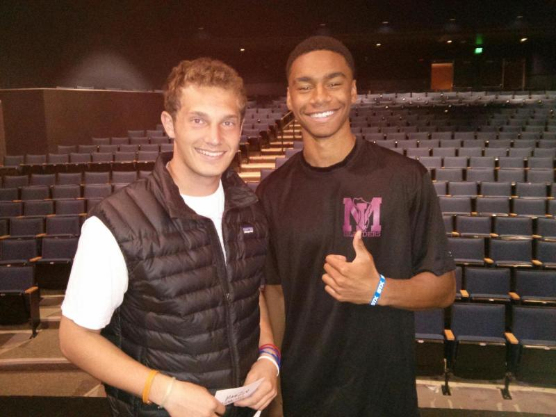 Mercer Island High School students Reid Fuhr and Lorenzo Powell