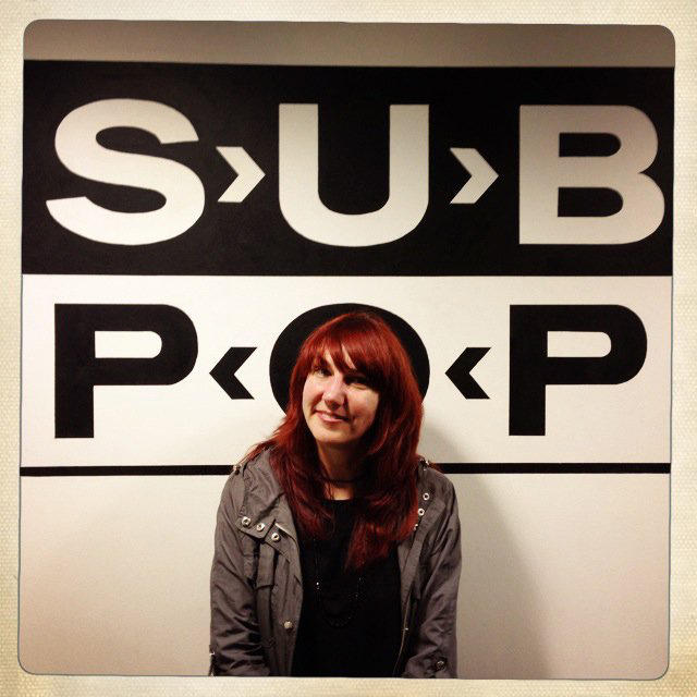 Megan Jasper, vice president of Sub Pop Records, poses for a portrait at their office in downtown Seattle on May 9, 2013.