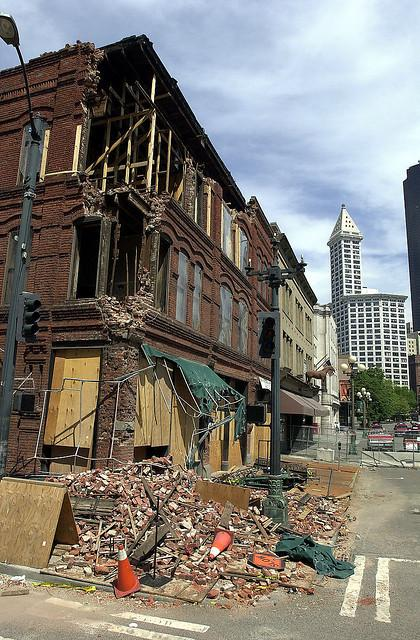 The Cadillac Hotel in Seattle suffered severe damage in the 2001 Nisqually Earthquake. Experts think even bigger quakes could be on the way for the Northwest.