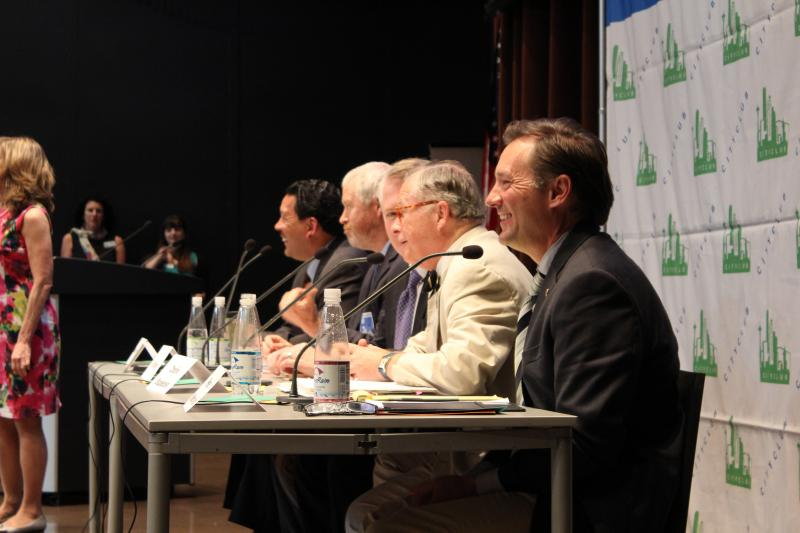 Panelists at the debate sponsored by CityClub Seattle.
