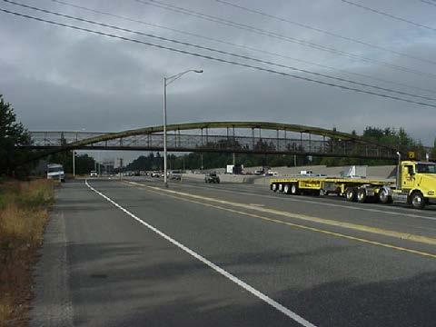 An I-405 pedestrian overpass in Kirkland at NE 80th St is one of the most hit bridges in Washington; it has been struck six times between 2007 and 2012.