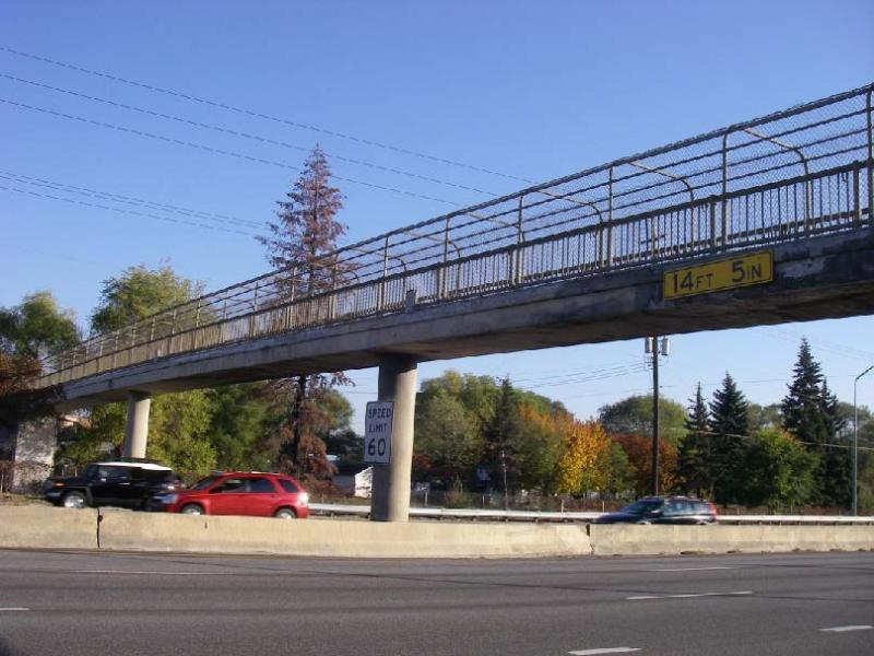 An I-90 pedestrian overpass in Spokane at Regal Street faced its worse year in 2012 when it was struck three times. In total, it has been struck six times between 2007 and 2012.