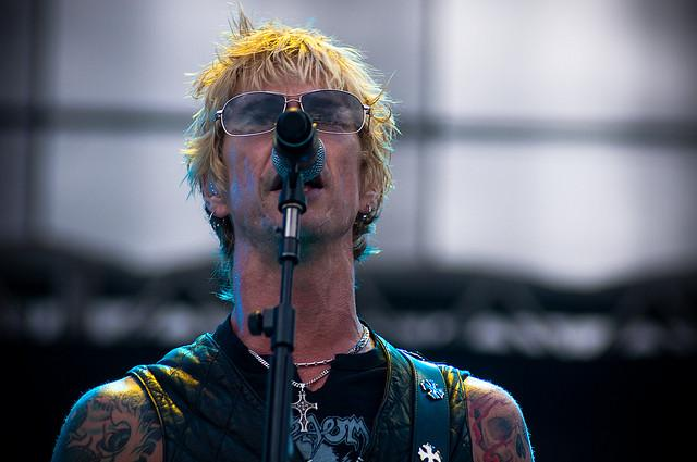 Legendary bassist Duff McKagan playing with his band, Loaded, in 2009.