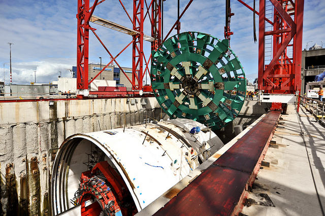 Bertha, the world's biggest tunnel boring machine, has been stuck under Seattle since Dec. 6, 2013.