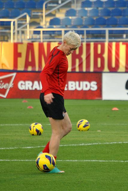 Megan Rapinoe training with the USWNT.