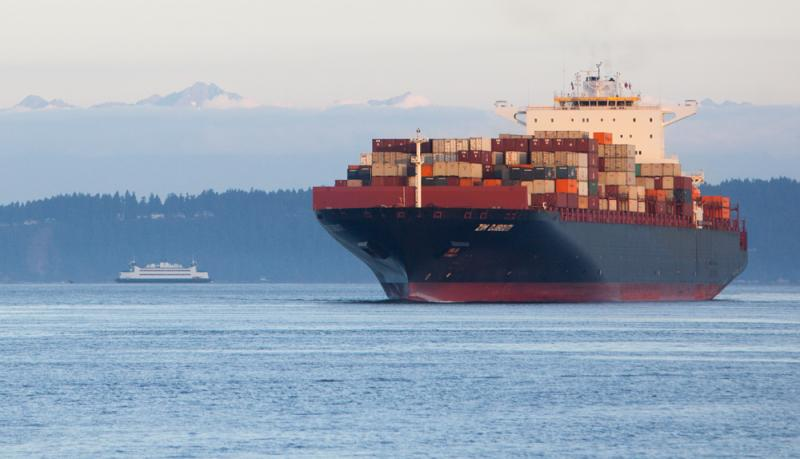 The Zim Djibouti, one of largest container ships in the world,  arrives at the Port of Tacoma.