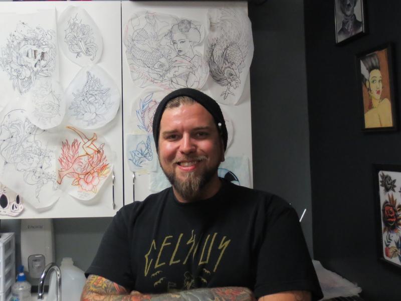 Tattoo artist Ben Bowlin.