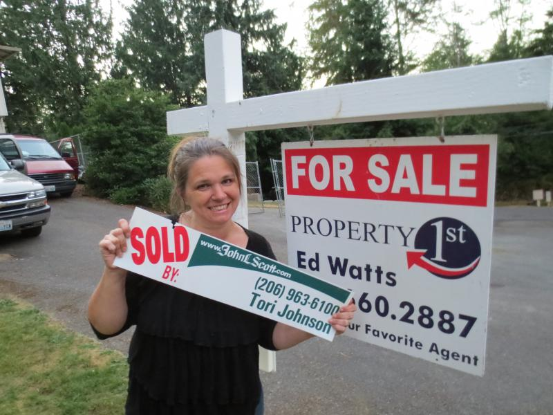 Natalie Johnson, new home owner.