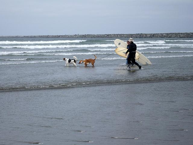 Cold water and threatening currents don't keep avid surfers away from the waves in the Pacific Northwest.