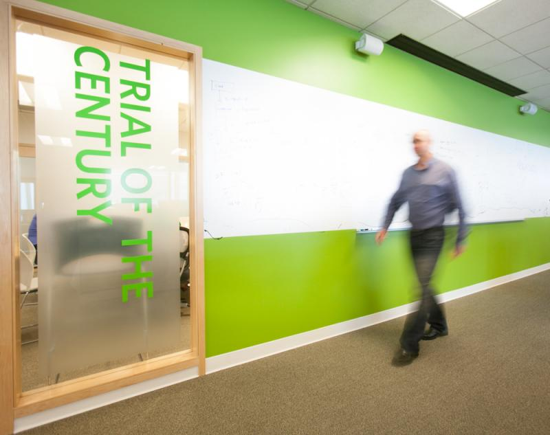 A conference room at Groupon's new Seattle engineering office. The company opened what it thought would be a small engineering office in Seattle last spring. Now with 130 employees, Groupon is looking for additional office space.