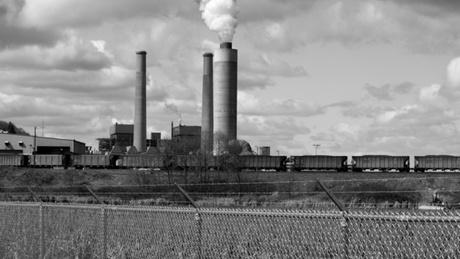 The TransAlta Centralia Generation Plant has been burning coal since 1971. The coal burned there was mined on-site until 2006 when the Centralia mine closed and the power plant began bringing in Powder River Basin coal by train.