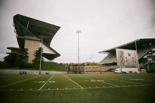 The Husky Stadium before its recent rennovation.