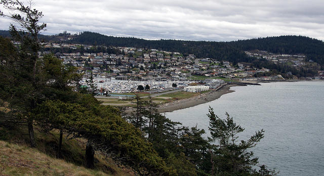 The city of Anacortes, overlooking the San Juans, faces the challenge of balancing tourism and industry.