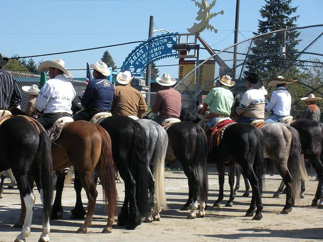 Riders at the Fiestas Patrias in South Park in 2008.