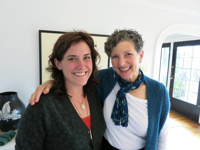 Chef Sara Dickerman and KUOW's Marcie Sillman.
