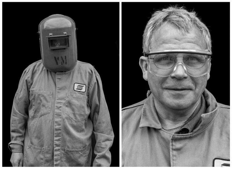 Welding instructor Ken Johnson.