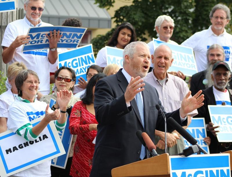 Mayor Mike McGinn officially launches his fall campaign in Ballard