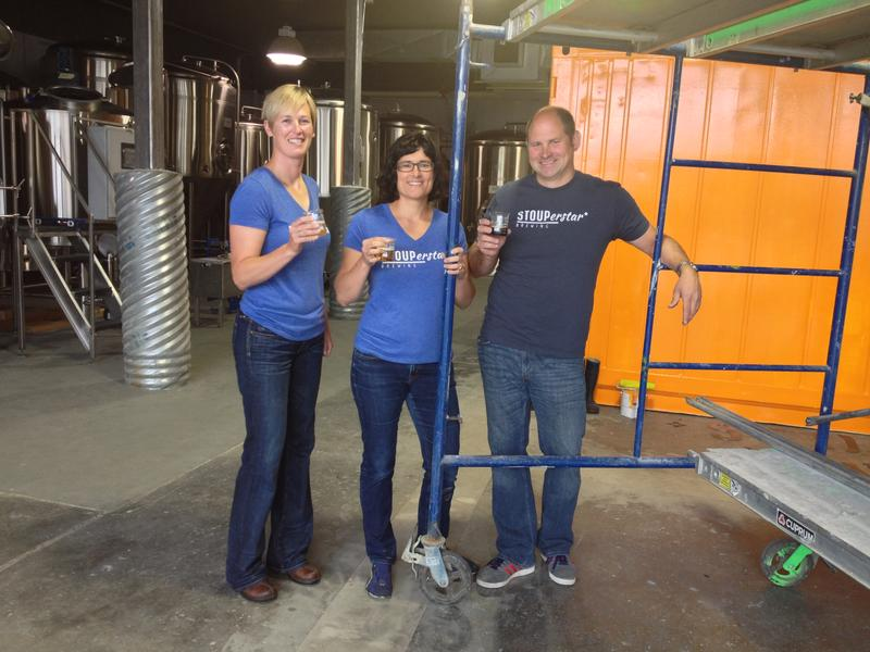 Stoup Brewing Company's founders Brad Benson, Lara Zahaba and Robyn Schumacher