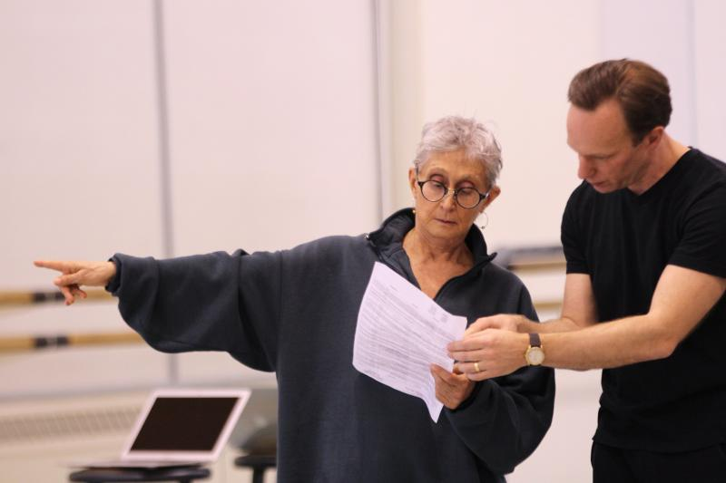 Twyla Tharp consults with PNB Artistic Director Peter Boal.