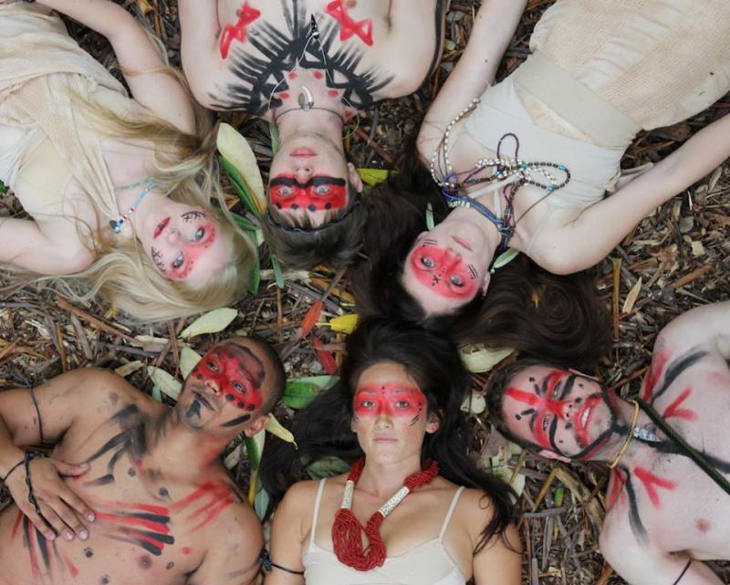 "The dancers of DASSdance's new piece, ""Tale of Ten Green."""