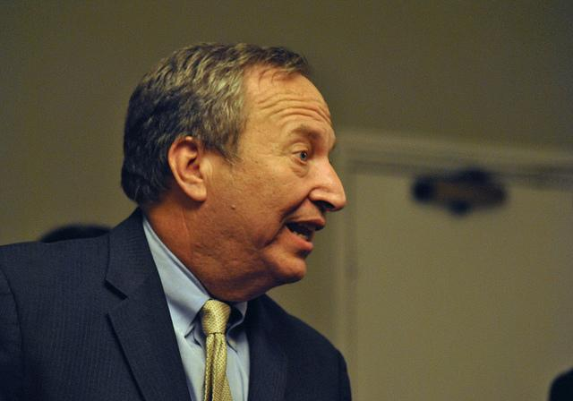 Larry Summers, former candidate for head of the Federal Reserve.