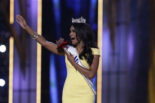 The newly crowned Miss America, Nina Davuluri, who received her title on September 15.