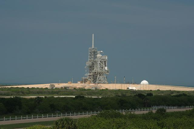 A launch pad at Kennedy Space Center in Florida.