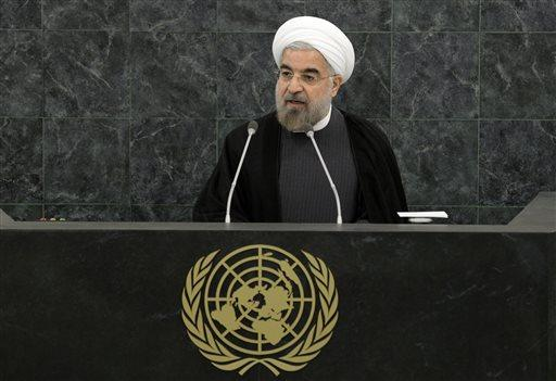 Iranian President Hassan Rouhani addresses a high-level meeting on Nuclear Disarmament during a United Nations General Assembly on Tuesday.