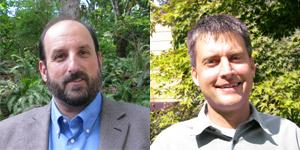 Bellevue City Council candidates Steve Kasner and Kevin Wallace.