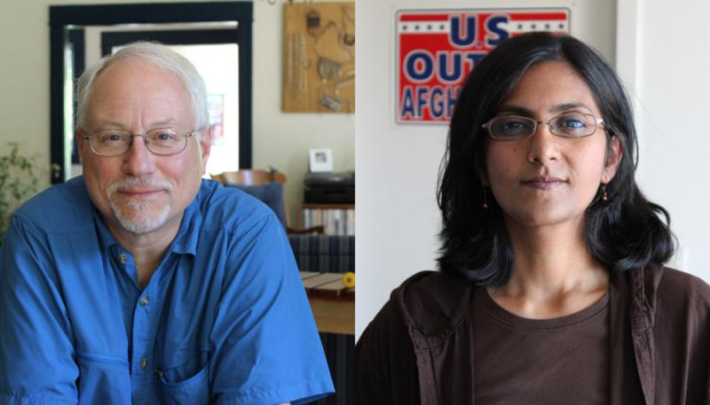 Seattle City Council candidates Richard Conlin and Kshama Sawant.