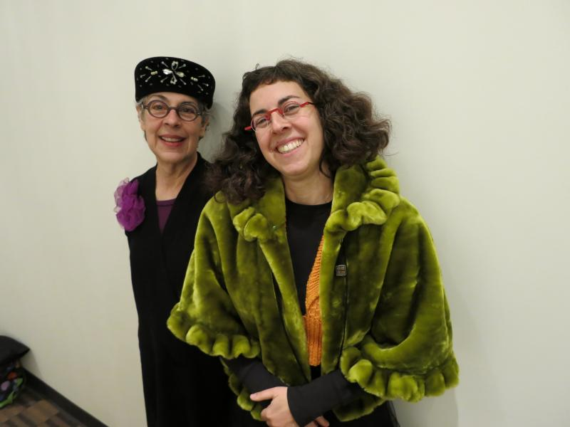 Authors Joann and Arielle Eckstut at the KUOW studios.