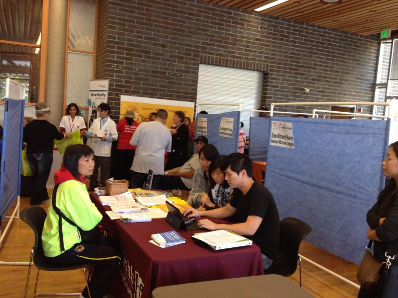 King County held an information fair for Seattle residents who have questions about getting health coverage.